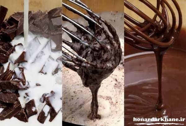 طرز تهیه گاناش با خامه و شکلات