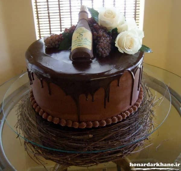 تزیین کیک تولد با گاناش