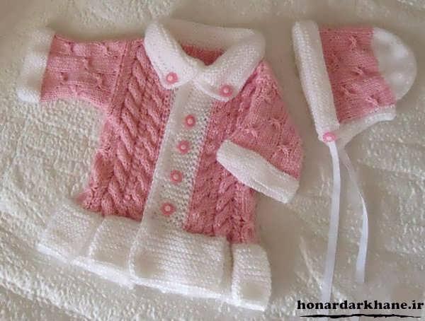 ژاکت بافتنی نوزاد دختر