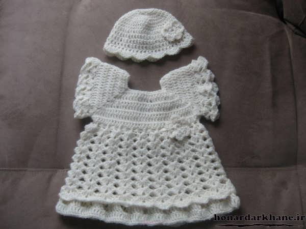 لباس نوزادی بافتنی