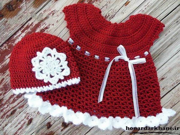 مدل لباس بافتنی نوزاد
