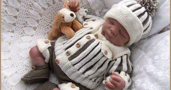 مدل بافتنی نوزاد پسر