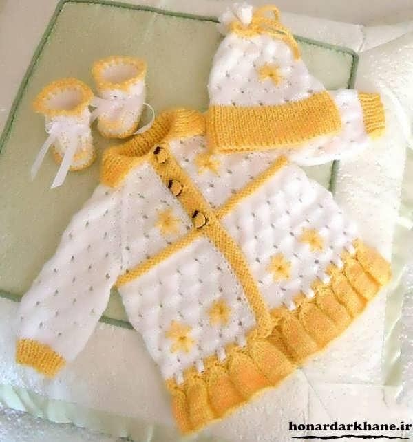 لباس بافتنی برای نوزاد