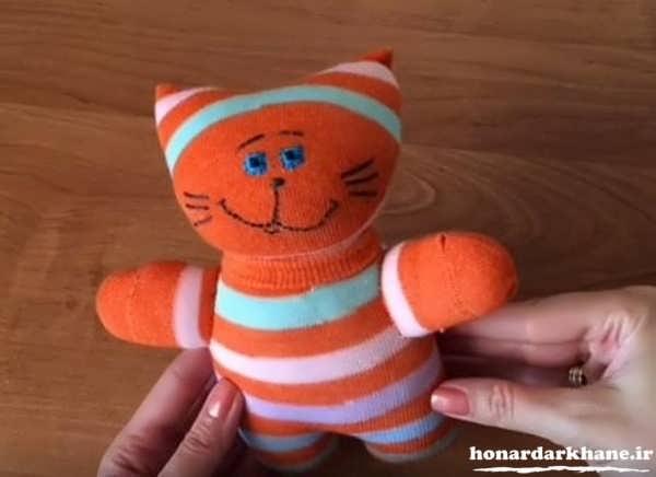 آموزش ساخت عروسک با جوراب کودکان