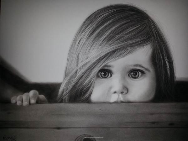 نقاشی صورت دختر