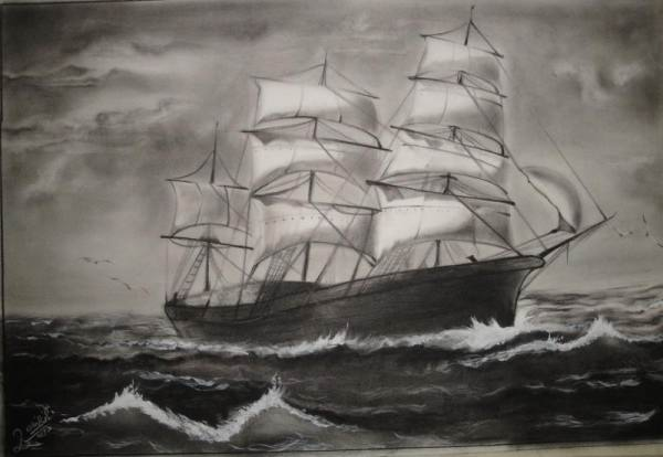 مدل نقاشی سیاه قلم منظره