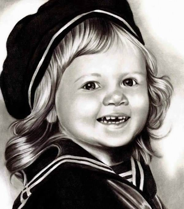 مدل نقاشی چهره سیاه قلم