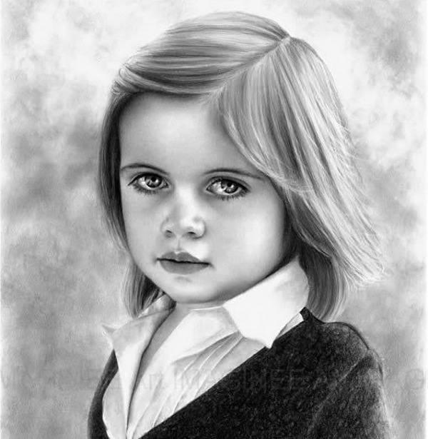 مدل زیبای نقاشی سیاه قلم