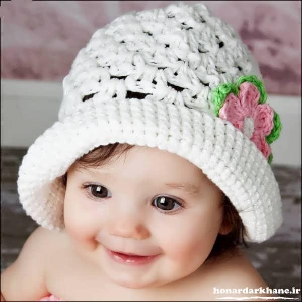 مدل کلاه بافتنی نوزادی