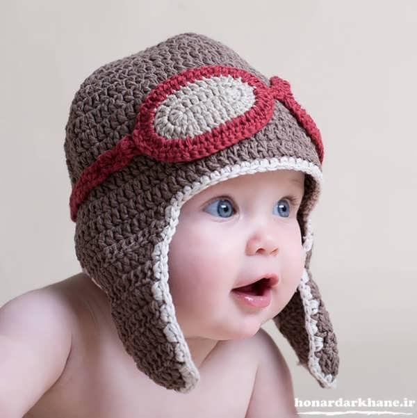 مدل کلاه بافتنی نوزاد