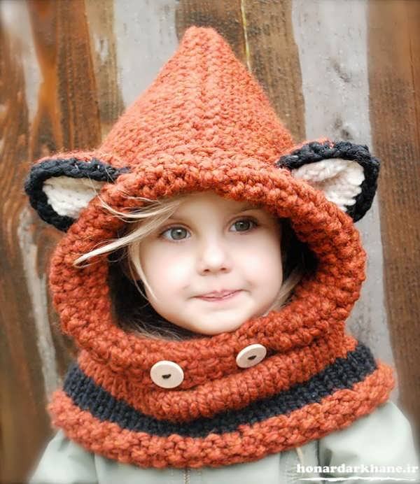 مدل جدید کلاه بافتنی بچه گانه