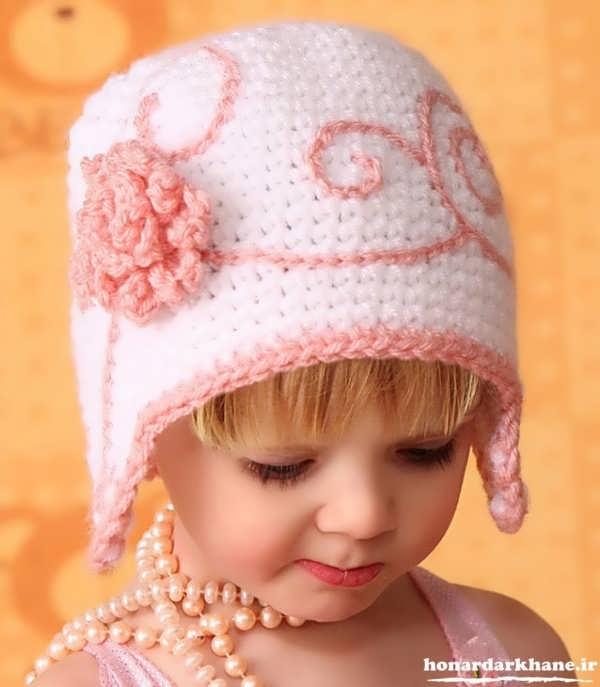 مدل هیا زیبای کلاه بافتنی برای بچه ها