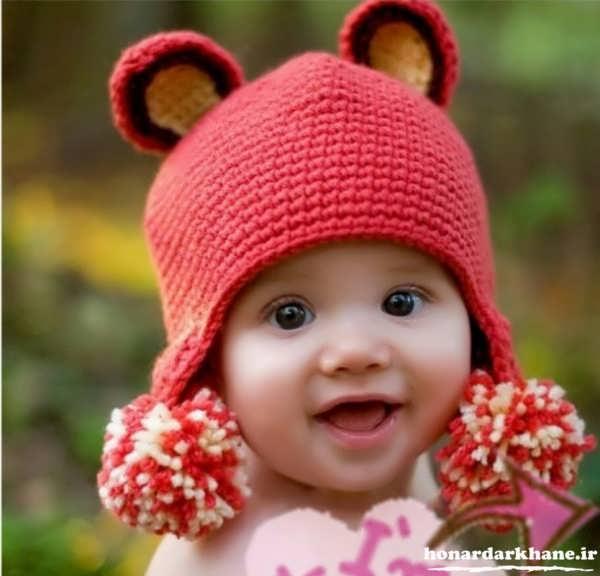 مدل کلاه بافتنی بچه گانه جدید