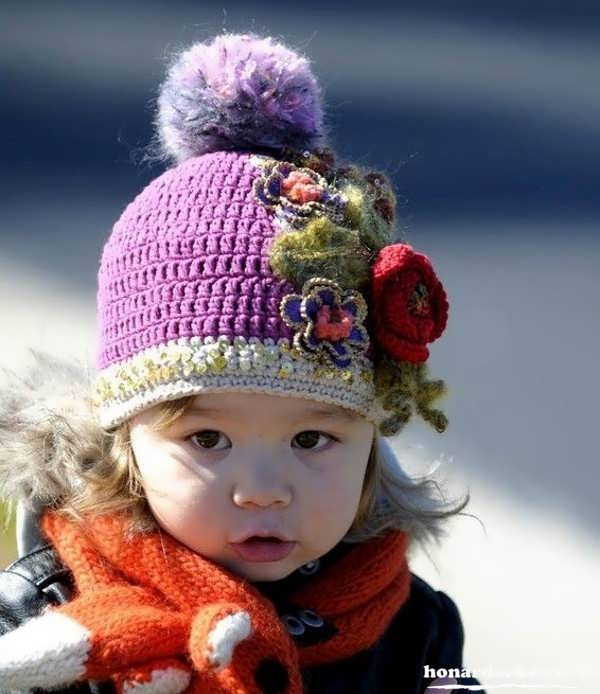کلاه های بافتنی بچه گانه جدید و زیبا