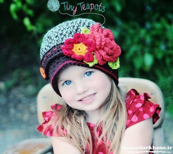 مدل کلاه بافتنی شیک و زیبا