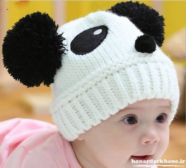 مدل کلاه بافتنی بچه گانه زیبا