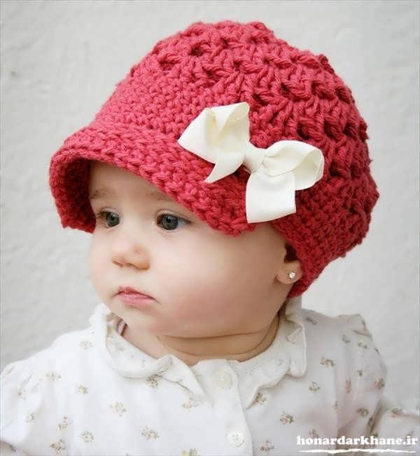 عکس کلاه بافتنی بچه گانه جدید