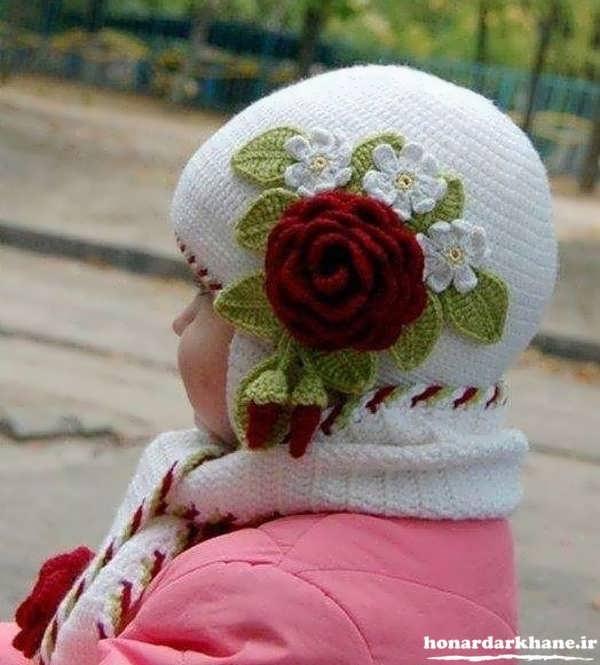 مدل هیا جدید کلاه بافتنی بچه گانه