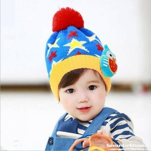 کلاه بافتنی بچه گانه ساده