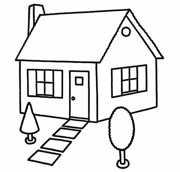 مدل نقاشی خانه برای کودکان