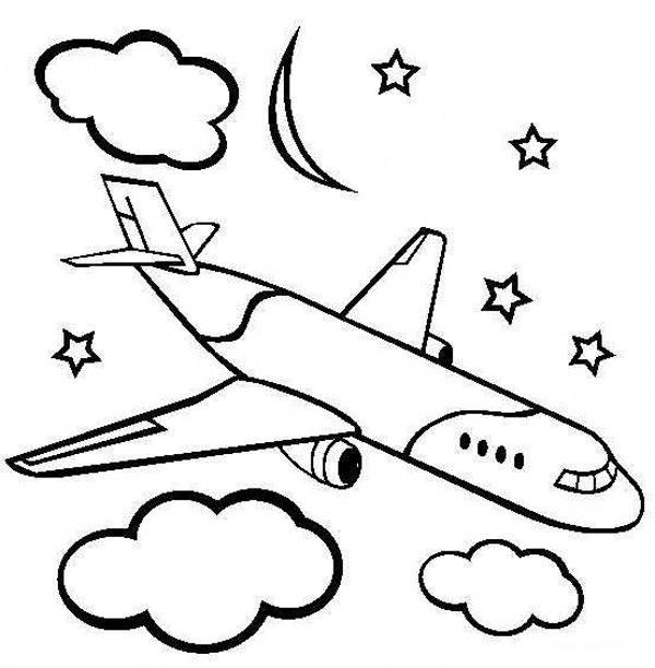 مدل نقاشی هواپیما کودکانه