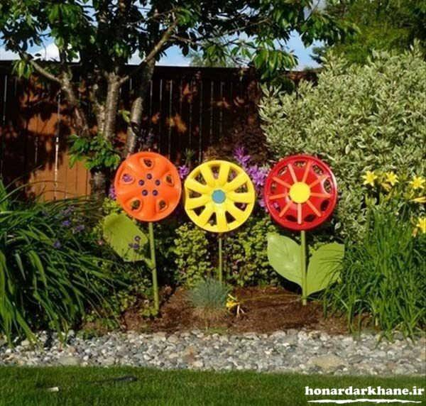 تزیین زیبای باغچه