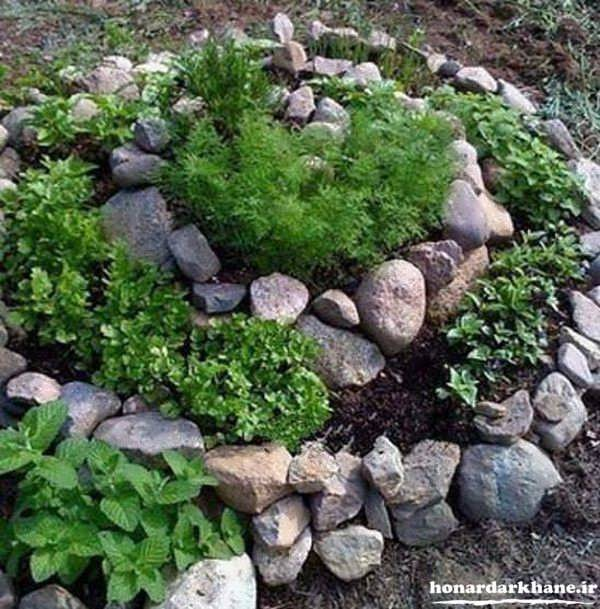 تزیین بسیار زیبای باغچه منزل