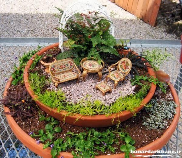 تزیینات باغچه منزل