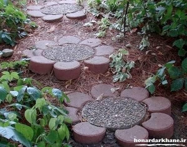 تزیین باغچه با وسایل ساده و ارزان