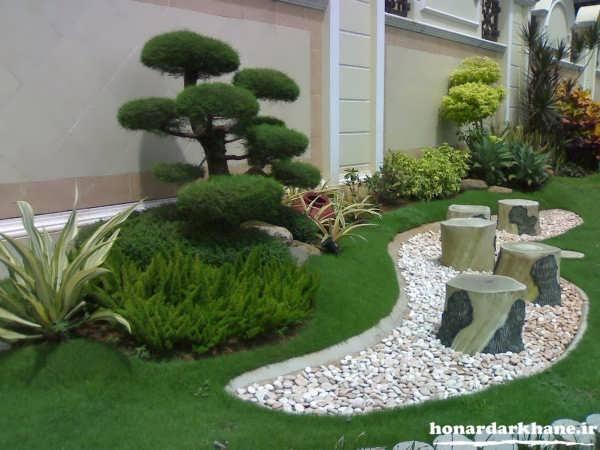 تزیین جالب باغچه منزل