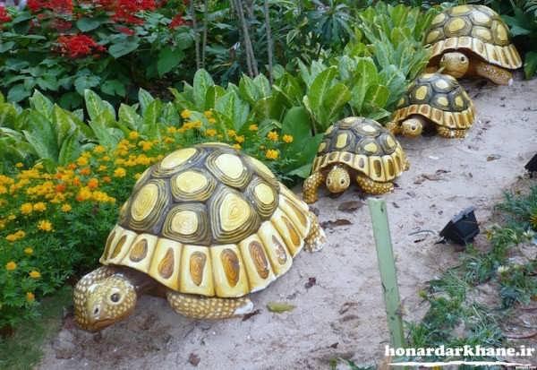 تزیینات زیبای باغچه منزل