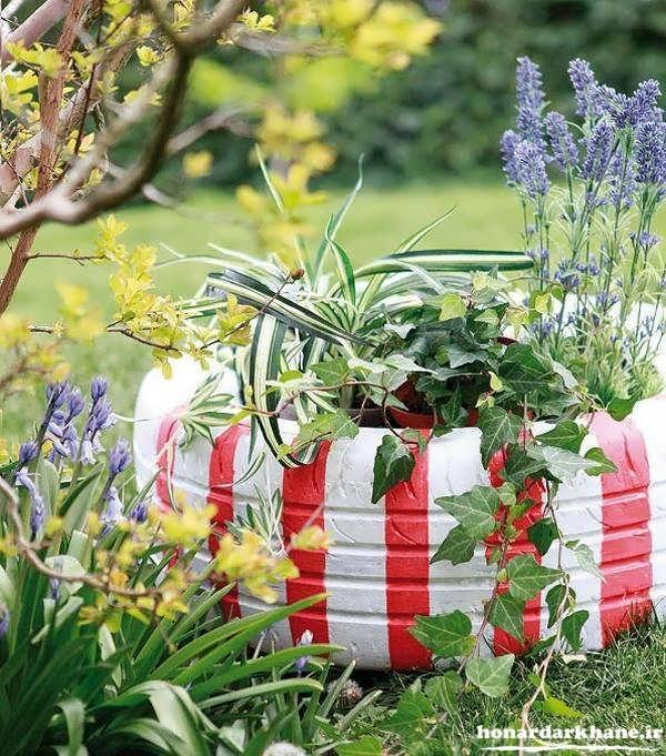ساخت باغچه با لاستیک ماشین