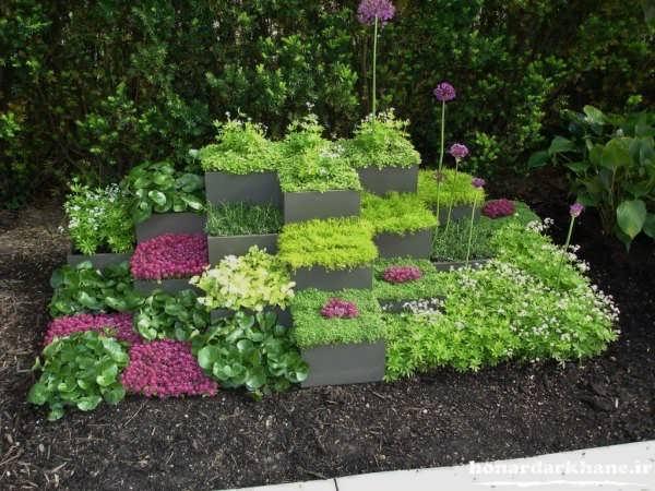 ساخت باغچه منزل در حیاط کوچک