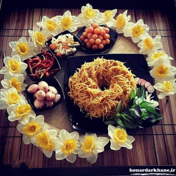 تزیین شیک غذای ایرانی