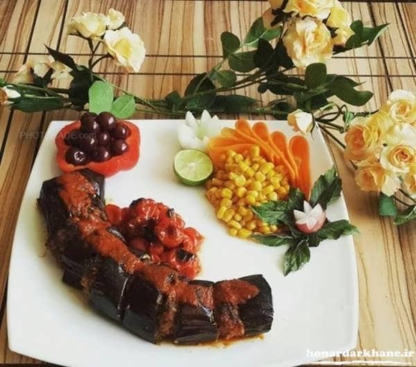 عکس تزیین غذا زیبا و جدید