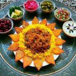 تزیین غذای ایرانی جدید