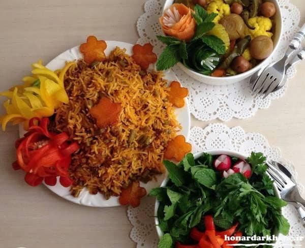 مدل تزیین غذا برای مهمانی