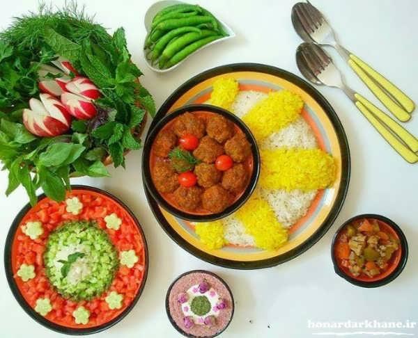 دیزاین غذا با ایده های جدید