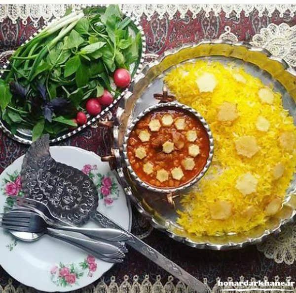 تزیین غذای ایرانی شیک و زیبا