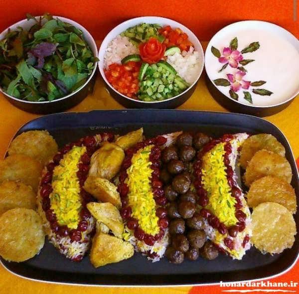 دیزاین غذاهای ایرانی جدید