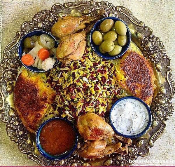 تزیین غذا و سفره ایرانی