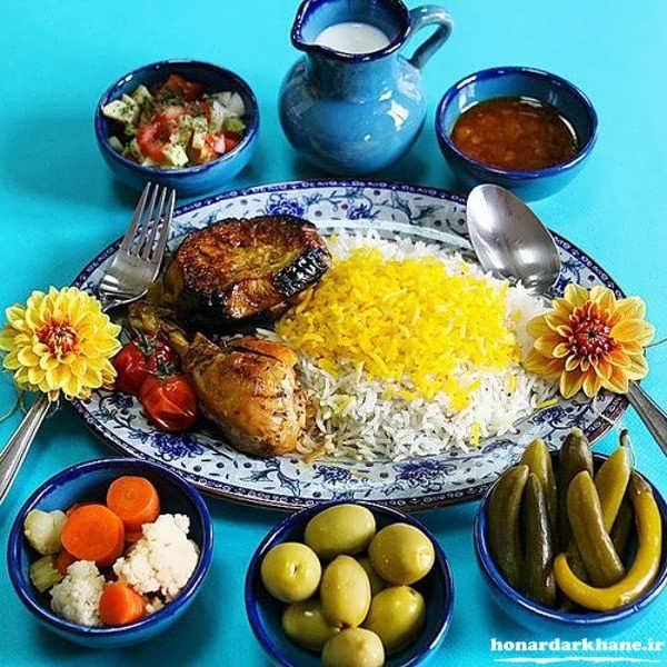 مدل تزیین غذاهای ایرانی
