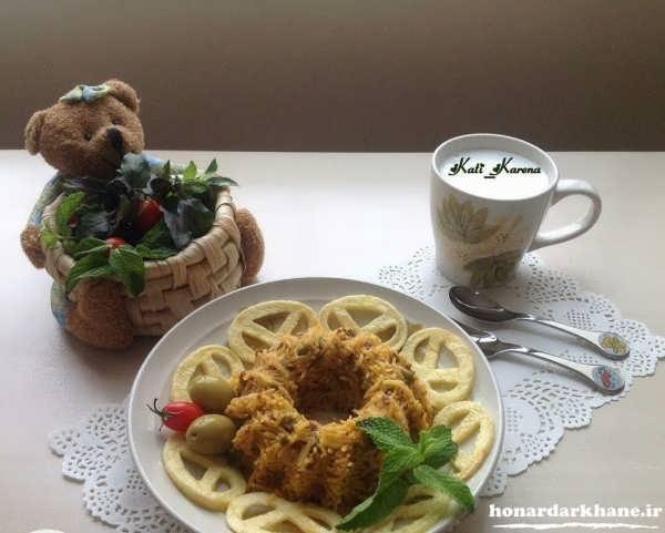 تزیین زیبای غذای ایرانی