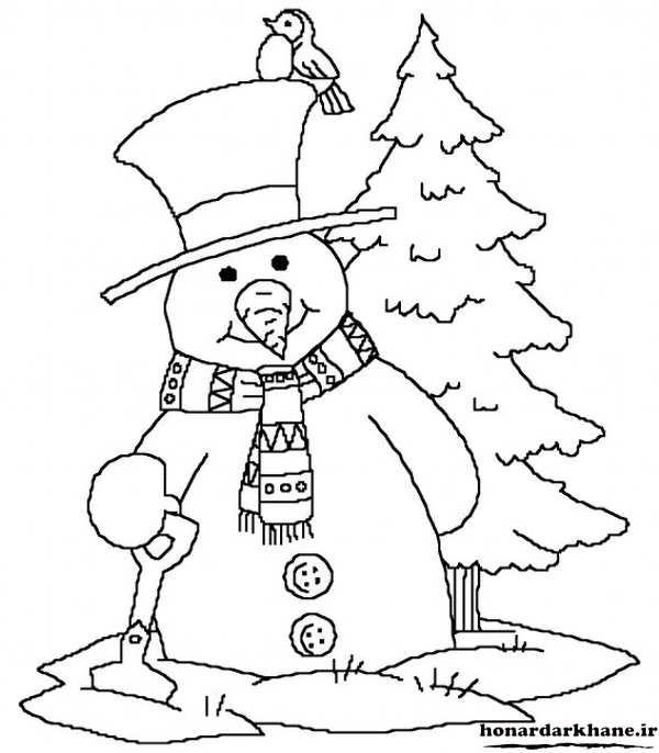 رنگ آمیزی آدم برفی