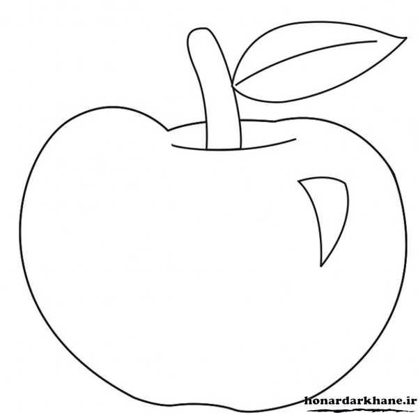 رنگ آمیزی میوه سیب