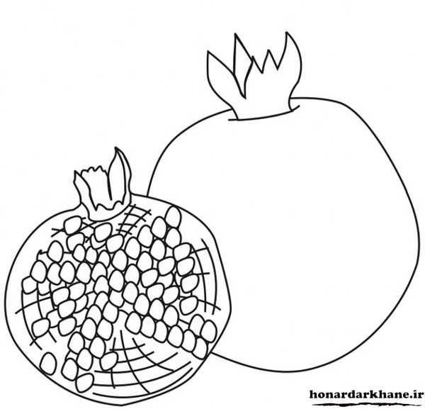 نقاشی انار برای بچه ها