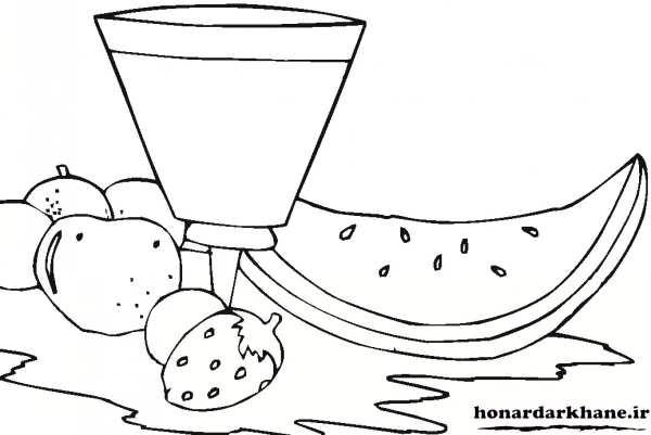 نقاشی میوه های شب یلدا