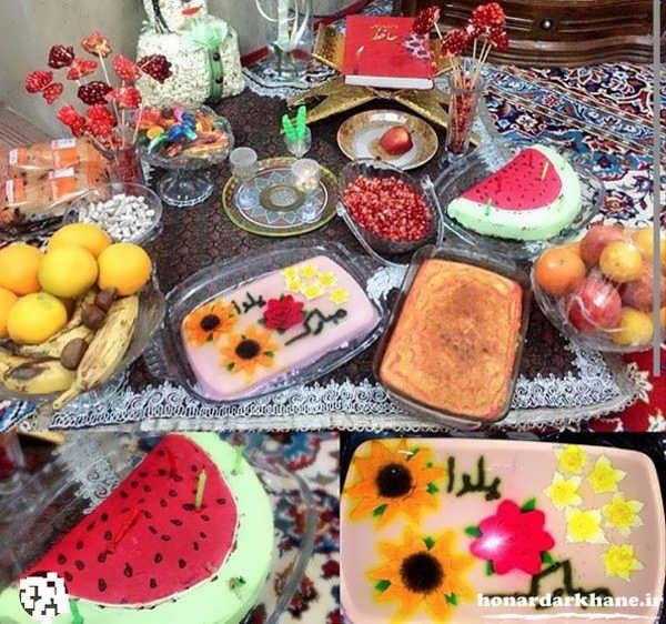 تزیین میز با تور ساتن تزیین میز با گل و تخم مرغ.