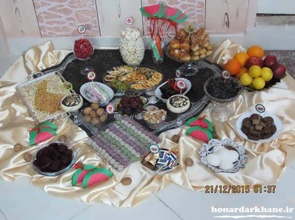 تزیین سنتی میز شب یلدا