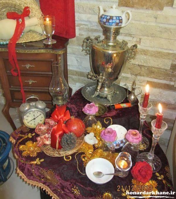 چیدمان میز شب یلدا سنتی